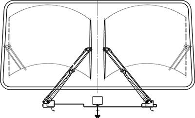 Система очистки стекла  2A, модификация CO2-24B1-2A.024